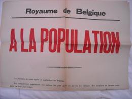 Affiche Ministère Belge Mettant En Garde ' Contre Attentats Divers Et Contre L'occupant - 1939-45