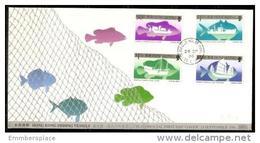 Hong Kpng - 1986 Fishing Vessels FDC   Sc 474-7 - Hong Kong (...-1997)