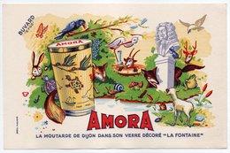 - BUVARD MOUTARDE AMORA - La Moutarde De Dijon Dans Son Verre Décoré LA FONTAINE - - Mostaza