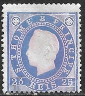 St. Thomas And Prince – 1887 King Luís 25 Réis - St. Thomas & Prince