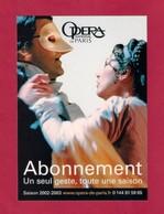 CPM.   Cart'Com.   Opéra National De Paris.   Saison 2002-2003. - Opéra