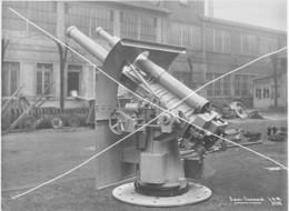Armée Française  ARTILLERIE CANON  14-18 Blindage Gros Plan  Grand Format N°3 - Krieg, Militär