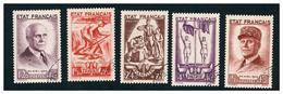 Série N°576 à 580 Obl. - France