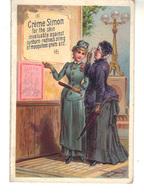 Petite Carte Ouvrante, Publicité Crème SIMON En Anglais;  J.Simon 36, Rue De Provence Paris - Advertising