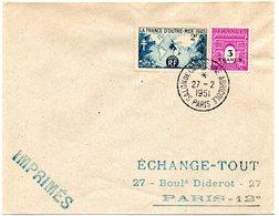 PARIS 1951 = CACHET PETIT FORMAT TEMPORAIRE  = SALON DE LA MACHINE AGRICOLE - Marcophilie (Lettres)