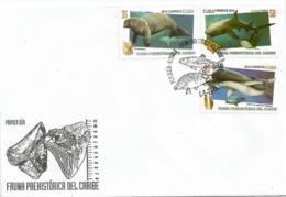 Cuba 2015 Prehistorical Caribbean Animals 6v + S/S FDC's - Mamíferos Marinos