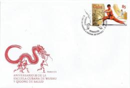 Cuba 2015 20th Anniversary Of Wushu School 1v FDC's - Cuba