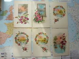 Paysages Et Fleurs / Illustrations 6 Cartes M.G.A. - Illustrateurs & Photographes