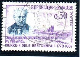 """PERSONNALITES - 50c  """"Dr Bretonneau""""  N° 1328 Obl. - Oblitérés"""