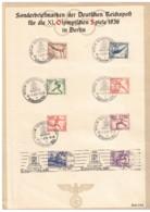 """1936, Sonderblatt Mit Handstempel """"OLYMPISCHES DORF"""" Sowie Dem Seltenen Rollstempel RR! - Summer 1936: Berlin"""
