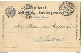 161 - 32 - Entier Postal Avec Superbes Cachets à Date Combremont-le-GRand Et Lucens 1904 - Entiers Postaux
