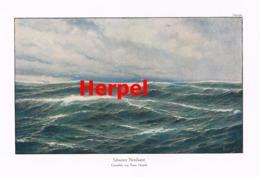 950 Herpel Schwerer Nordwest Raue See Kunstblatt Druck 1913 !! - Prints