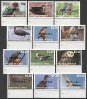 N672 KINGDOM OF TONGA FAUNA BIRDS OVERPRINT OFFICIAL SET !!! MICHEL 70 EURO MNH - Uccelli