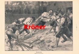954 Erwin Kröner Werftarbeiter Schiffswerft Werft Druck 1911 !! - Prints