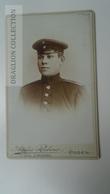 D164572 CDV  Cabinet Photo  -  Atelier RUBENS- E. Mirska - POSEN POZNAN  - Ca 1880-90 - Young Man  Uniform Military - Fotos