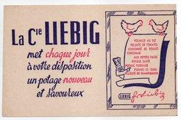 - BUVARD LIEBIG - Un Potage Nouveau Et Savoureux - - Suppen & Sossen