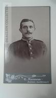 D164574 CDV  Cabinet Photo  - E. Methner - Lauban   - Ca 1880-90 - Young Man  Uniform Military - Fotos
