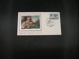"""BELG.1985 2169 FDC (Borgerhout) Soie/zijde :"""" Journée Du Timbre , Jean De Bast Graveur , Dag Van De Postzegel """" - 1981-90"""