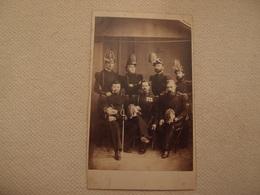 Photo CDV Militaria Empire Les Sapeurs De Chambéry Génie ?  Shako Saint-Cyr Officier Décorations - Oorlog, Militair