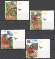 N676 KINGDOM OF TONGA FAUNA BIRDS PARROTS 1SET MNH - Pappagalli & Tropicali