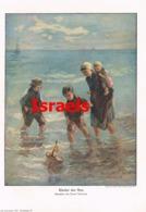 957 Jozef Israels Kinder Der See Holland Kunstblatt Druck 1911 !! - Prints