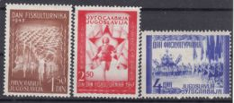 Yugoslavia Republic 1947 Mi#521-523 Mint Hinged - 1945-1992 Repubblica Socialista Federale Di Jugoslavia