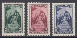 Yugoslavia Republic 1948 Mi#542-544 Mint Hinged - Unused Stamps
