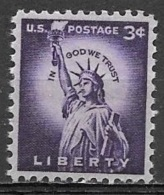 1954 Liberty Series 3 Cents Statue Of Liberty, Mint Never Hinged - United States