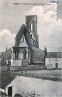 Belgique - Péruwelz - Wiers - L' Eglise Incendiée Vue De La Place - Peruwelz