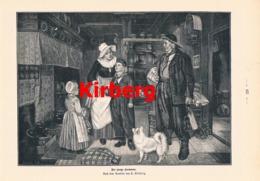 958 Kirberg  Der Junge Seemann Fischerstube Druck 1898 !! - Prints