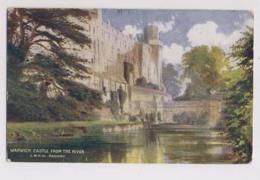 AK29 Warwick Castle From The River - L&NW Railway Postcard - Warwick