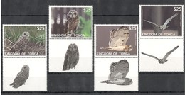 N678 2012 KINGDOM OF TONGA FAUNA BIRDS OWLS 1SET MICHEL 110 EURO MNH - Gufi E Civette