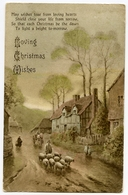 LOVING CHRISTMAS WISHES / SHEPHERD & FLOCK / ADDRESS - LEEDS, ALEXANDRA ROAD, SPRING GROVE HOUSE (SALVATION ARMY) - Christmas