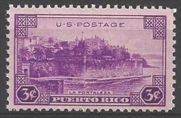1937 3 Cents Puerto Rico, Mint Never Hinged - Unused Stamps