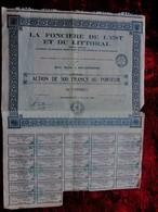 """AIX LES BAINS 1926 """"LA FONCIERE DE L'EST & LITTORAL""""PART DE FONDATEUR AU PORTEUR ACTION/TITRE 500fr FONCIER SCRIPOPHILIE - Cinéma & Theatre"""