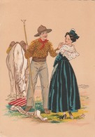 Barré & Dayez. PROVENCE. Arlésienne, Gardian Avec Son Cheval.  Illustrateurs: Signé E. Maudy. N° 1187 V W - Personnages