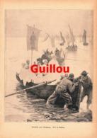 960 Guillon Heimkehr Vom Kirchgang Schiffe Kunstblatt Druck 1889 !! - Prints