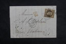 FRANCE - Lettre De Lille Pour La Belgique En 1868 , Affranchissement Napoléon 30ct - L 33210 - Marcofilie (Brieven)