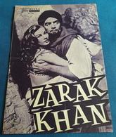 "Anita Ekberg, Victor Mature, Michael Wilding > ""ZARAK KHAN"" > Altes NFP-Filmprogramm '1957 (fp74) - Zeitschriften"