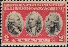 1931 3 Cents Yorktown, Mint Never Hinged - Unused Stamps
