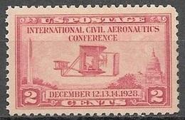 1928 2 Cents Civil Aeronautics Conference, Mint Never Hinged - Unused Stamps
