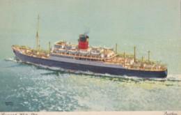 AO01 Shipping - Cunard White Star Parthia - Artist Signed Walter Douglas? - Steamers