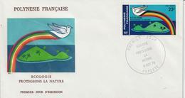 Polynésie FDC 1978 Ecologie  PA 141 - FDC