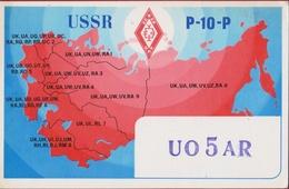 QSL Card Amateur Radio Funkkarte USSR Map CCCP 1975 - Radio Amateur
