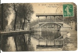 59  LILLE  Avenue Des Marronniers Et Pont Napoléon   Edit  FLD  Cpa Voyagée En 1912 - Lille