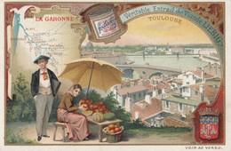 CHROMO IMAGE) LIEBIG      La Garonne Toulouse( Parfait Etat) - Liebig