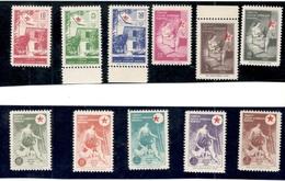 TURKEY1956:Michel201-11mnh** Zwangszuschlagmarken For Health And Education Of Youth Cat.Value $250 - 1921-... Republik