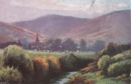 AQ35 Edale - Artistic Postcard By Rambler - Derbyshire