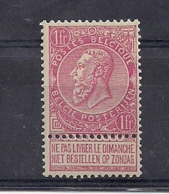 LEOPOLD II NR.64 XX 1F -PERFECTE TANDING - 1893-1900 Fine Barbe