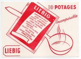 - BUVARD LIEBIG - 10 POTAGES Incomparables - - Potages & Sauces